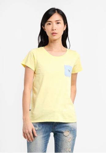 REGATTA yellow Single Jersey Tee With Pocket Detail RE699AA0SN26MY_1