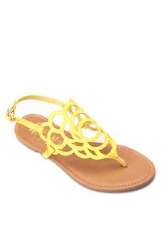 Perforated Design Flat Sandals