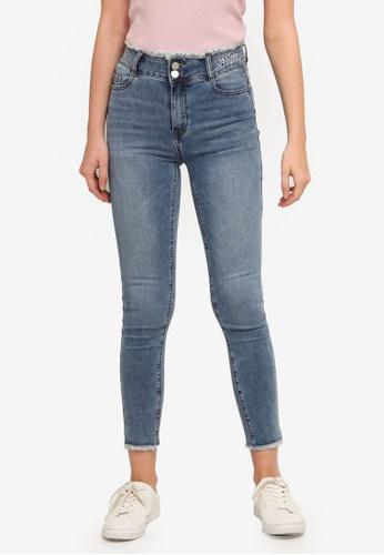 UniqTee blue High Waist Skinny Jeans 8A050AAD54C8F0GS_1