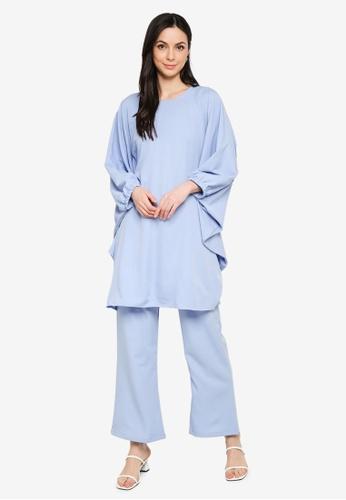 Butik Sireh Pinang blue Zalikha Blouse Suit Kaftan 7666CAA4C48DCCGS_1
