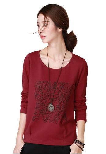 A-IN GIRLS red New Fashion Print Long Sleeve T-Shirt 283B7AA3FD865BGS_1