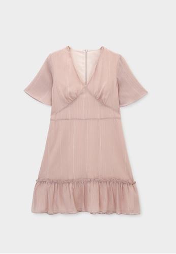 Pomelo pink Mini Frill Hem Dress - Pink E7B1DAA6A9F08BGS_1