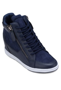 High Top Sneakers With Side Zippers