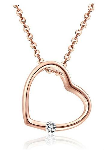Vivere Rosse gold Chic Heart Necklace VI014AC19WXCMY_1