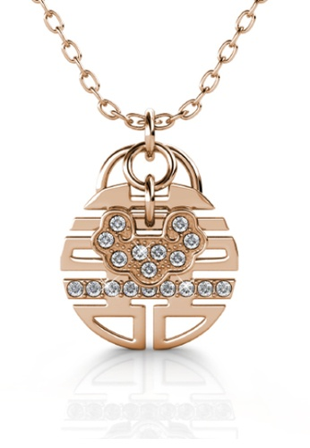Her Jewellery gold Happiness Pendant - Embellished with Crystals from Swarovski® ECC4DAC3F7028BGS_1