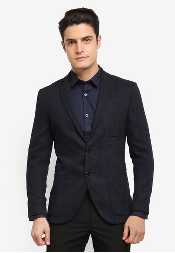 Selected Homme black One-Milano Check Blazer D9F33AA4553365GS_1