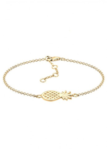 ELLI GERMANY Elli Germany Elli Germany 925 Sterling Silver Gelang Pineapple Gold Plated Emas