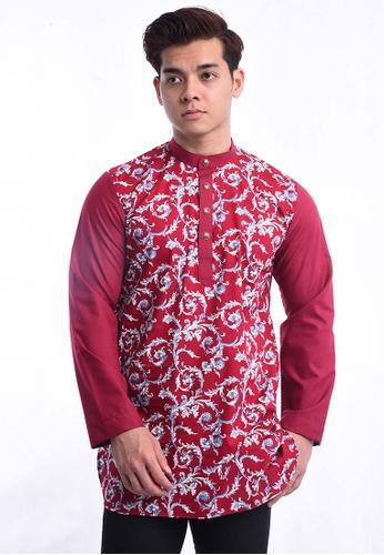 UA BOUTIQUE red Kurta Batik UAKLB17-031 (Maroon) 47CD2AA40B07FAGS_1