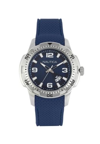 Nautica blue Nautica Jam Tangan Pria - Blue Silver - Rubber - NAI12522G  NA209AC0V5WWID 1 d6891bb7d3