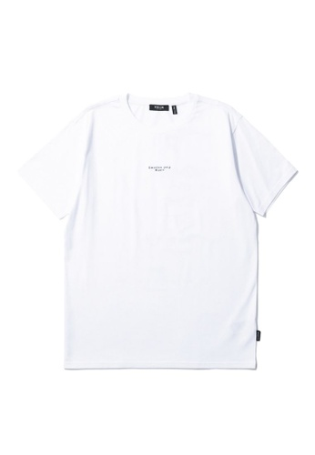 Fivecm white Graphic print tee E2895AAA7D29B7GS_1