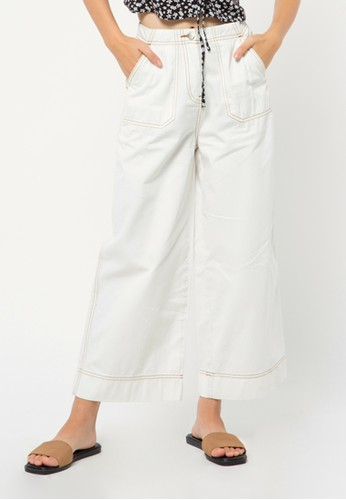 COLORBOX white Contras Cullotes Pants 7FA35AA2A62872GS_1