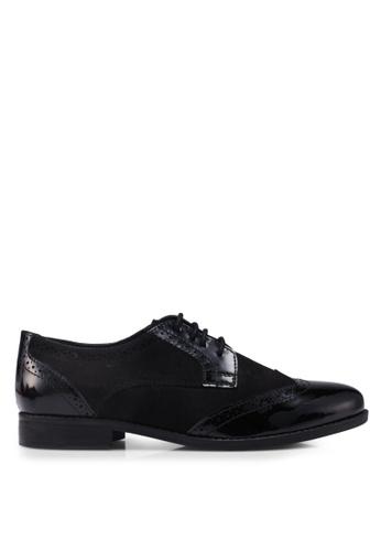 Dune London black Foxxy Mix Material Brogue Shoes 34C7ESHBB2B00AGS_1