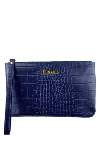 Mel&Co blue Faux Leather Croco Embossed Wristlet 9021CAC1A3DF21GS_1