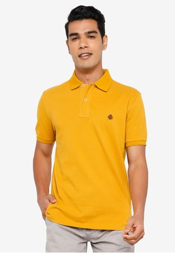 Springfield gold Essential Pique Polo Shirt 174F0AA733CD4AGS_1