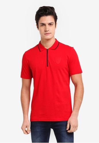 men puma black t shield large shirt ferrari home euro s blue shop mens motorsport