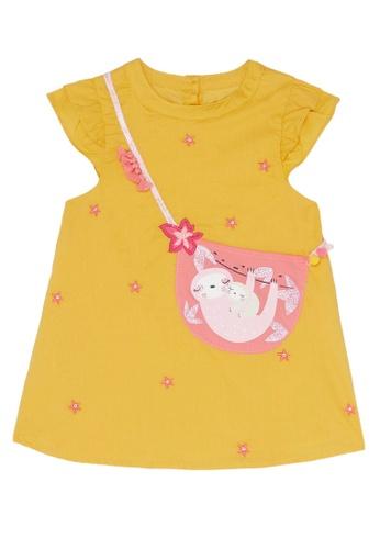 Du Pareil Au Même (DPAM) yellow Bag Design Dress 89F88KAE2C9802GS_1