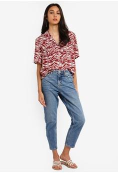 b15eeb06550 TOPSHOP Palm Bowler Shirt S  66.90. Sizes 6 8 10 12