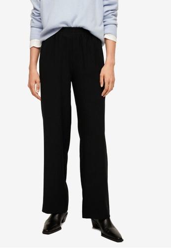 Mango black Elastic Waist Trousers 76AA1AA2468C2EGS_1