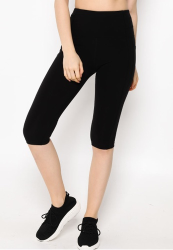 Lorna Jane black All Day Booty Support 3/4 Tights ABC07AA2E3C155GS_1