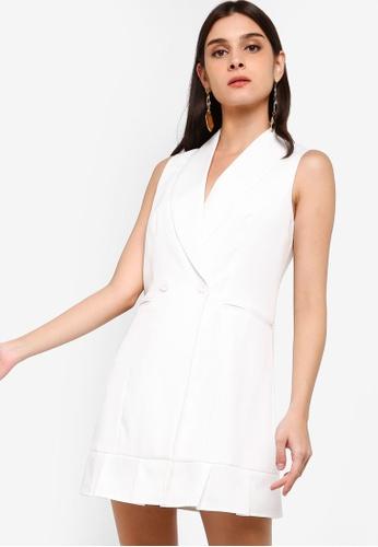 ZALORA white Blazer Dress 755A8AA82D52FBGS_1