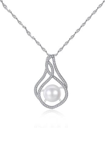 A.Excellence white Premium White Pearl Elegant Necklace 634BBAC005231FGS_1