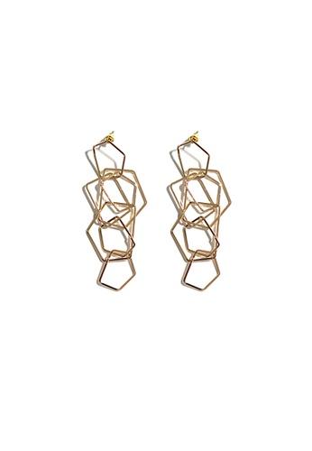FAWNXFERN gold Bora Geometric Drop Earrings 0D417ACEEAA7D2GS_1