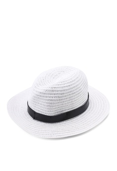 f84659994a9d0 37% OFF River Island Paper Braid Fedora Dr Trim Hat RM 109.00 NOW RM 68.90  Sizes One Size