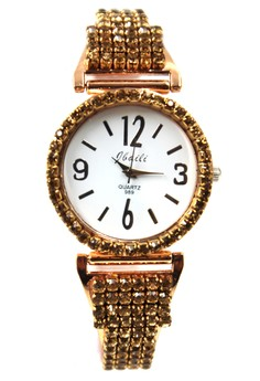 Jbaili Tracey Stainless Stoned Watch 989