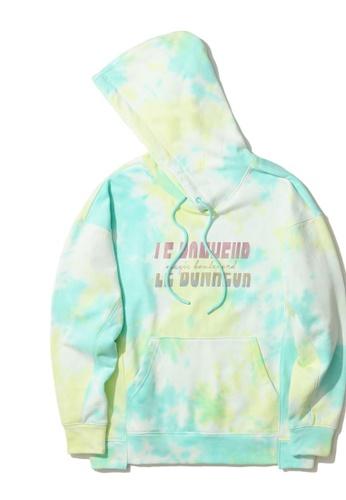 tout à coup green Tie-dye hoodie 5C0D8AA7B0BCAAGS_1