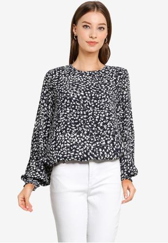 Vero Moda black Lulu Dorit Long Sleeves Top 1984FAA93420F7GS_1