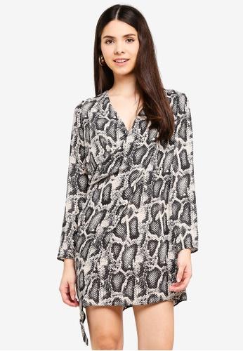 River Island multi Long Sleeve Dolly Swing Dress 4B2A9AAA0833D5GS_1