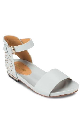 鉚釘繞踝涼鞋, 女鞋, esprit地址鞋