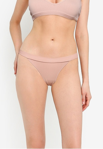 Cotton On Body brown Seamfree Tanga Bikini Panties 5ED71USCA55F22GS_1