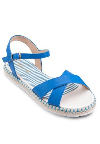 交esprit 衣服叉帶平底涼鞋, 女鞋, 鞋