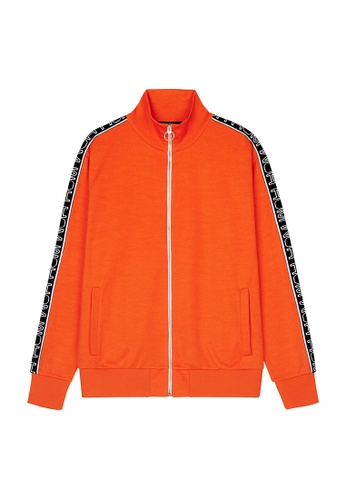 HOM red and orange Leo Zip Through Sweat-Shirt - Red Orange 2C4C6AA14A6B18GS_1