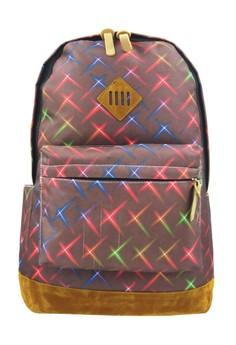 Fashionable Trendy Printed Art Travel School Backpack