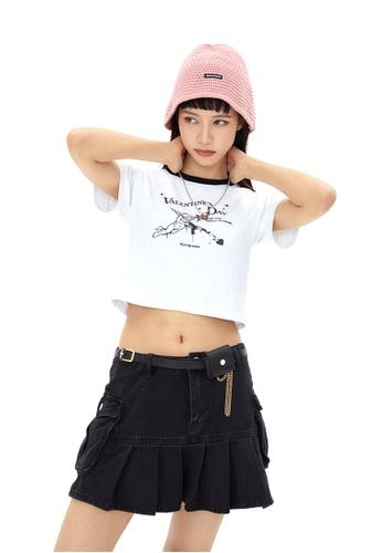 Twenty Eight Shoes Slim Printed Short Sleeve T-shirt HH0013 34AAEAA1FBB0D2GS_1