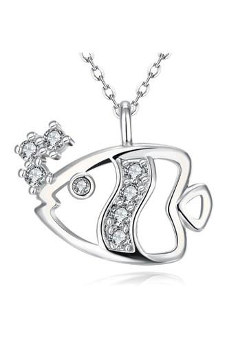 Tiaria white Tiaria Gold Plated Necklace Fashion Party KZCN029-C--K10 13171AC8E9BBF7GS_1