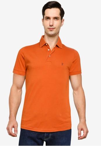 French Connection orange Basic Sneezy Logo Polo Shirt 885ECAAB27C17BGS_1