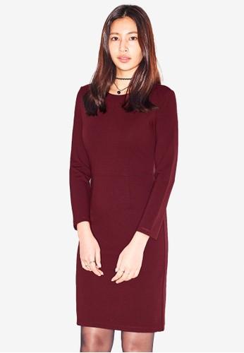 NAIN red Long Sleeve Jersey Dress 3A75DAAE57EA5AGS_1