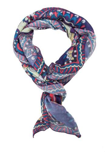 印花絲巾zalora鞋子評價, 飾品配件, 披肩