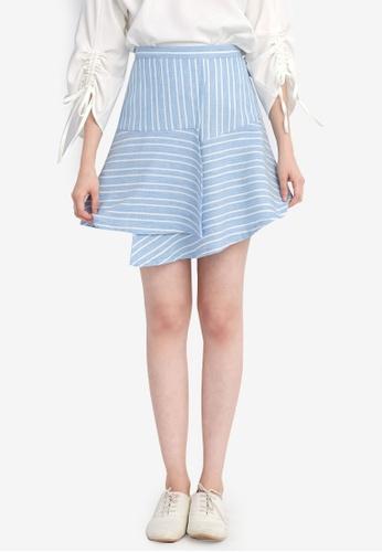 Tokichoi blue Striped Multilayered Skirt TO550AA0SAMZMY_1