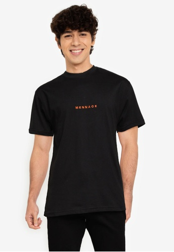 Mennace black Essential Regular T-Shirt 7A5DFAAD9BC6CDGS_1