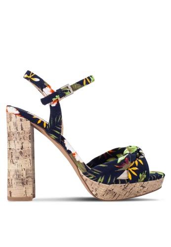 Dorothy Perkins multi Floral 'Siri' Knot Cork Sandals DO816SH94QWVMY_1