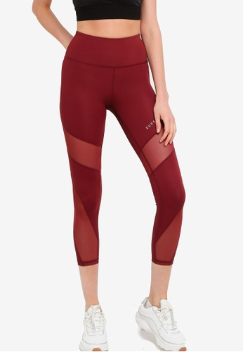 SUPERDRY red Training Mesh 7/8 Leggings DCC77AAAC23583GS_1
