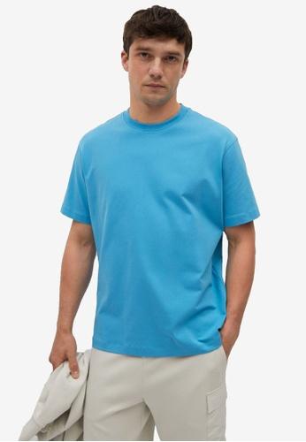 MANGO Man blue Relaxed Fit Cotton T-Shirt E5C02AACD33564GS_1