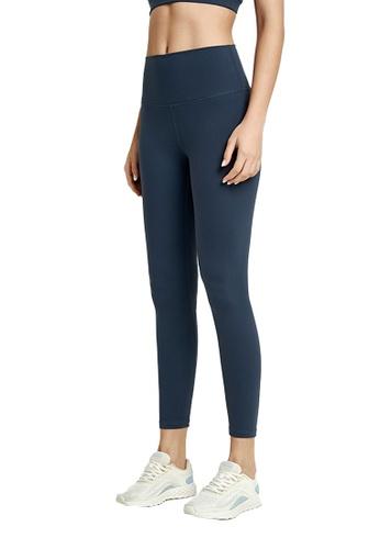 B-Code navy ZWG1103a-Lady Quick Drying Running Fitness Yoga Leggings-Navy 9C2D0AABA0C5BFGS_1
