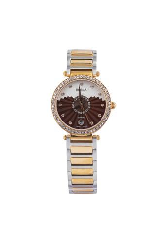 BONIA gold and silver Bonia B10130-2667S - Jam Tangan Wanita -  Silver Rose Gold BO710AC79AYYID_1