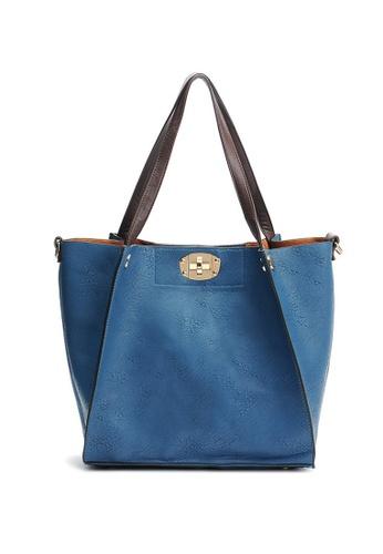 LULUGIFT blue Set of 3 Bat Shape Sling Bag Dark Blue Color LU989AC74YTXMY_1