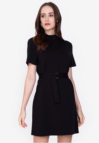 ZALORA WORK black High Neck Knit Dress F3480AAD749C7FGS_1